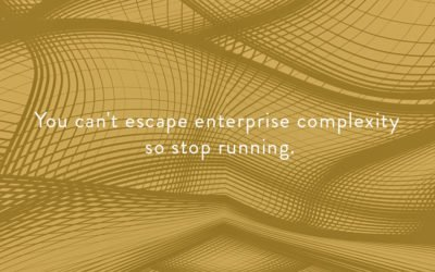 You can't escape enterprise complexity, so stop running.