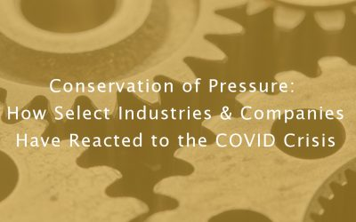 Conservation of Pressure: How Select Industries & Companies Have Reacted to the COVID Crisis
